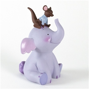 Roo Sitting on Lumpy - Pooh & Friends Figurine, 4004022