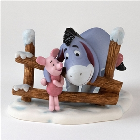Eeyore and Piglet by Snowy Fence - Pooh & Friends Figurine, 4004059