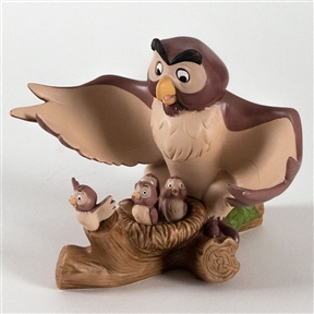 Owl Teaching Babies to Fly Pooh & Friends Figurine, A3820