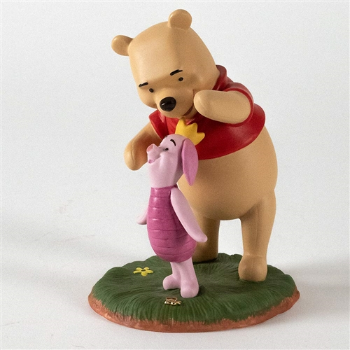 Pooh & Friends Piglet with Crown Figurine by Disney, A5567