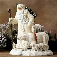 Santa with Arctic Animals, Christmas Figurine - Precious Moments, Pipka 11399