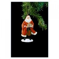 Santa Holding Nativity Ornament - Pipka by Precious Moments, 11488