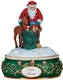 Deer Santa - Pipka by Precious Moments Musical Figurine, 7131174