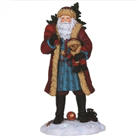 Santa with Teddy - Pipka by Precious Moments Figurine, 7131202