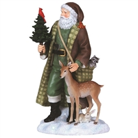 Santa with Woodland Animals - Pipka by Precious Moments Figurine, 7131203