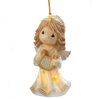 Angel with Harp - Precious Moments Ornament, 101041