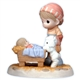 Shepherd with Baby Jesus - Precious Moments Nativity Figurine, 101049