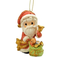 Santa with Bell - Precious Moments Ornament, 101068