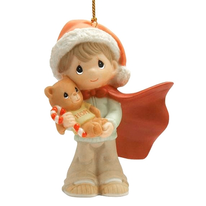 Boy with Teddy Bear - Precious Moments Ornament, 101076