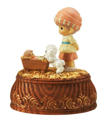 Shepherd With Lamb - Precious Moments Musical Figurine, 101044