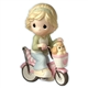 Girl on Bicycle with Dog - Precious Moments Figurine, 102007