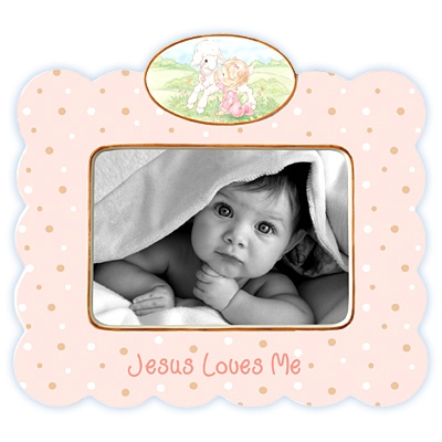 Jesus Loves Me (Girl) Photo Frame - Precious Moments, 102401