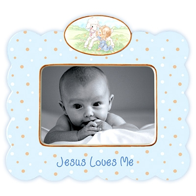 Jesus Loves Me (Boy) Photo Frame - Precious Moments, 102402