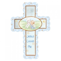 Jesus Loves Me (Boy) - Precious Moments Cross, 102409