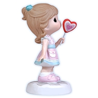 Girl with Heart Lollipop Precious Moments Figurine 103001