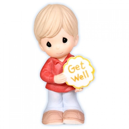 Boy with Get Well Sign - Precious Moments Figurine, 103013