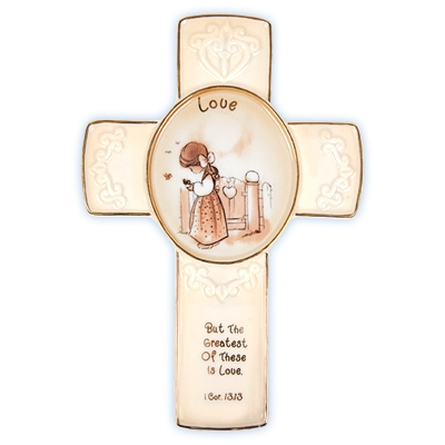 Love Cross with Stand - Precious Moments, 103441