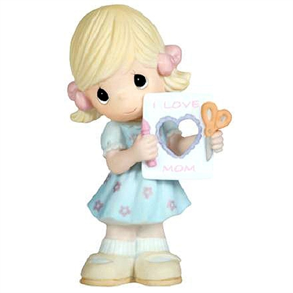 Girl with Mother's Day Card - Precious Moments Figurine 104005