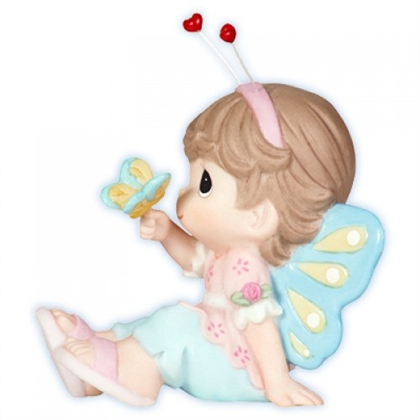 Girl Dressed as Butterfly - Precious Moments Figurine, 104014