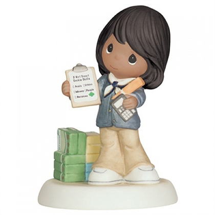 African American Girl Scout - Precious Moments Figurine, 104053