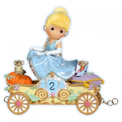 Cinderella Birthday Parade Car, Age 2 - Precious Moments Figurine, 104404