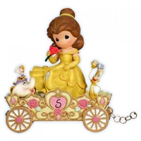 Belle Birthday Parade Car, Age 5 Precious Moments Figurine, 104407