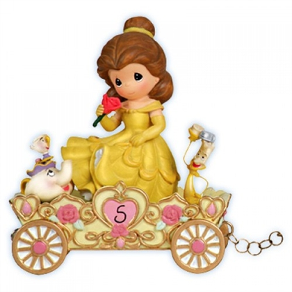 Belle Birthday Parade Car, Age 5 - Precious Moments Figurine, 104407