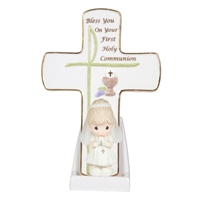 Girls' First Holy Communion Cross - Precious Moments, 104409