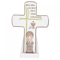 Boys' First Holy Communion Cross by Precious Moments 104410