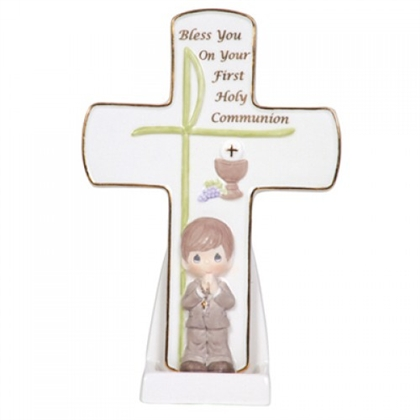 Boys' First Holy Communion Cross - Precious Moments, 104410