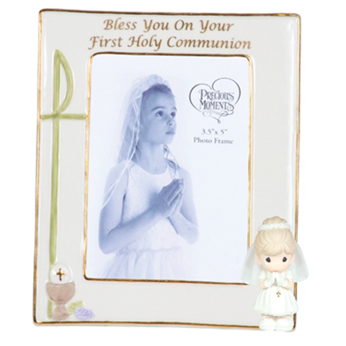 Girls First Holy Communion Photo Frame - Precious Moments, 104411 ...