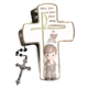 Boys' First Communion Covered Box and Rosary - Precious Moments, 104414