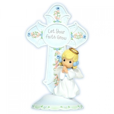 December Angel Birthstone Cross - Precious Moments, 104433