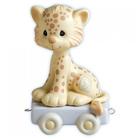 Leopard Birthday Train, Age 7 - Precious Moments Figurine, 109479