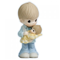 Father with Baby - Precious Moments Figurine, 112003