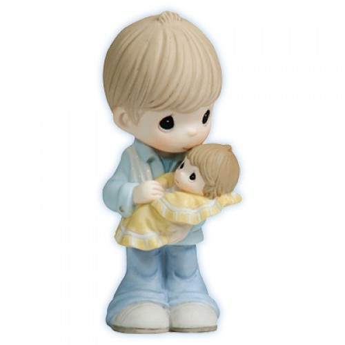 Father With Baby Precious Moments Figurine 112003