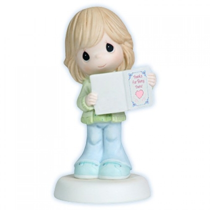 Girl Holding Thank You Card - Precious Moments Figurine, 112009