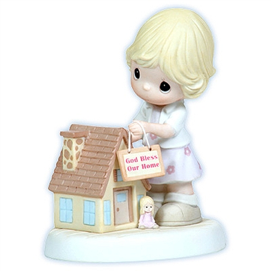 Girl With Dollhouse - Precious Moments Housewarming Figurine, 113020