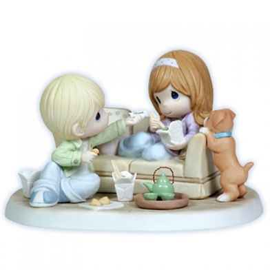Couple Eating Chinese Take Out - Precious Moments Figurine, 113025