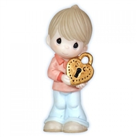 Boy with Heart Locket - Precious Moments Figurine, 113044