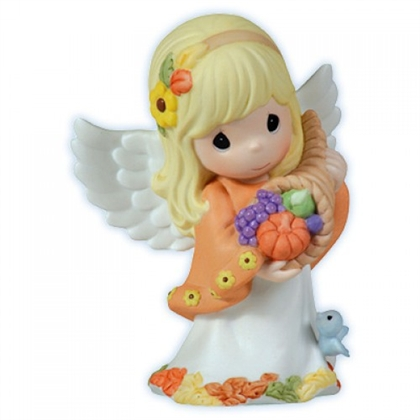 Autumn Angel Holding Cornucopia Precious Moments