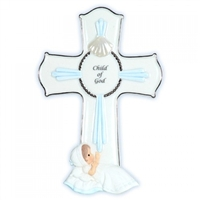 Boy Baptism Cross - Precious Moments, 113440