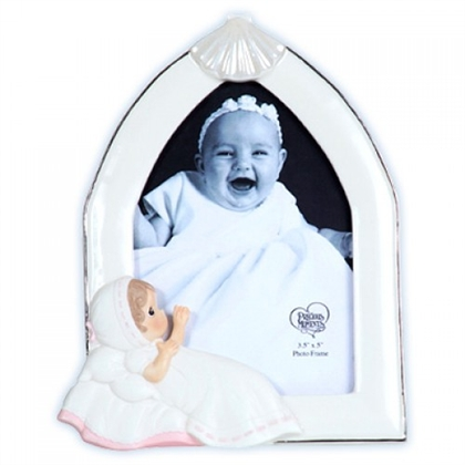 Girl Baptism Photo Frame - Precious Moments, 113442