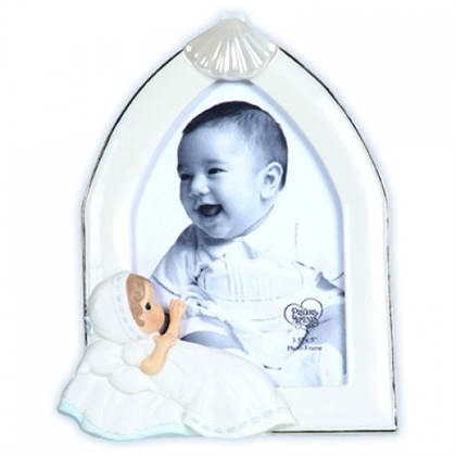 Boy Baptism Photo Frame - Precious Moments, 113443