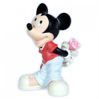 Mickey Mouse with Rose - Precious Moments Figurine, 113700