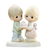 Couple with Anniversary Cake by Precious Moments Figurine 114021