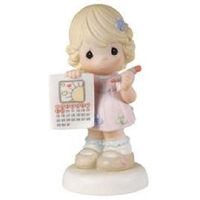 Girl with Calendar - Precious Moments Figurine, 114032