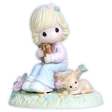 Girl with Bible - Precious Moments Figurine, 114039