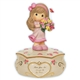 Girl with Flowers for Mom - Precious Moments Musical Figurine, 114104