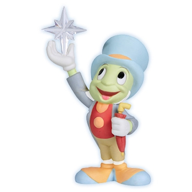 Jiminy Cricket Reaching for Star, Disney Figurine - Precious Moments, 114704
